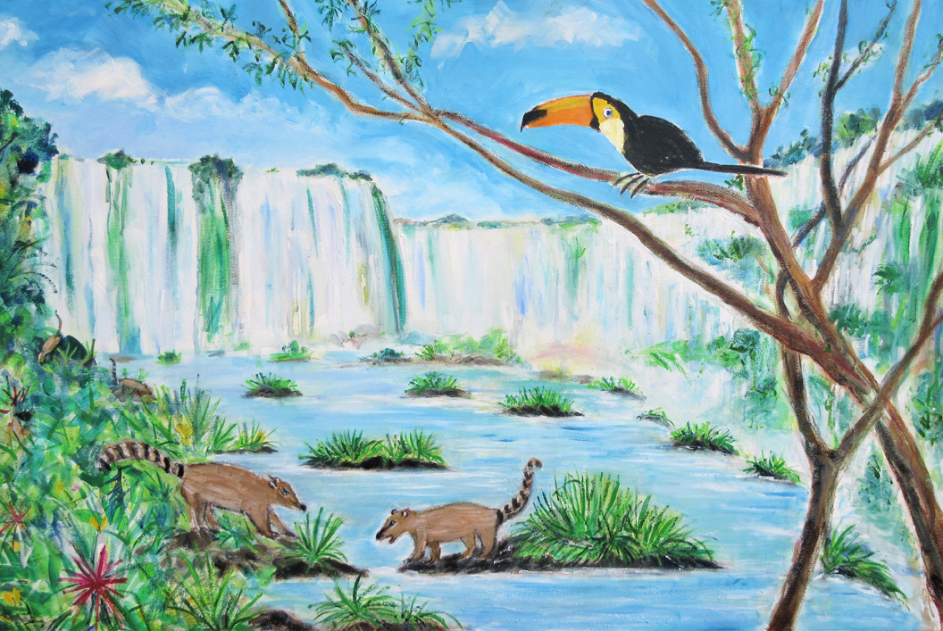 Naughty Coatis & the Toucan, Igasu Falls