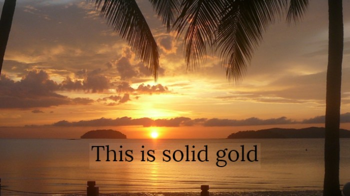 Solid Gold Sunset josephkravis.com
