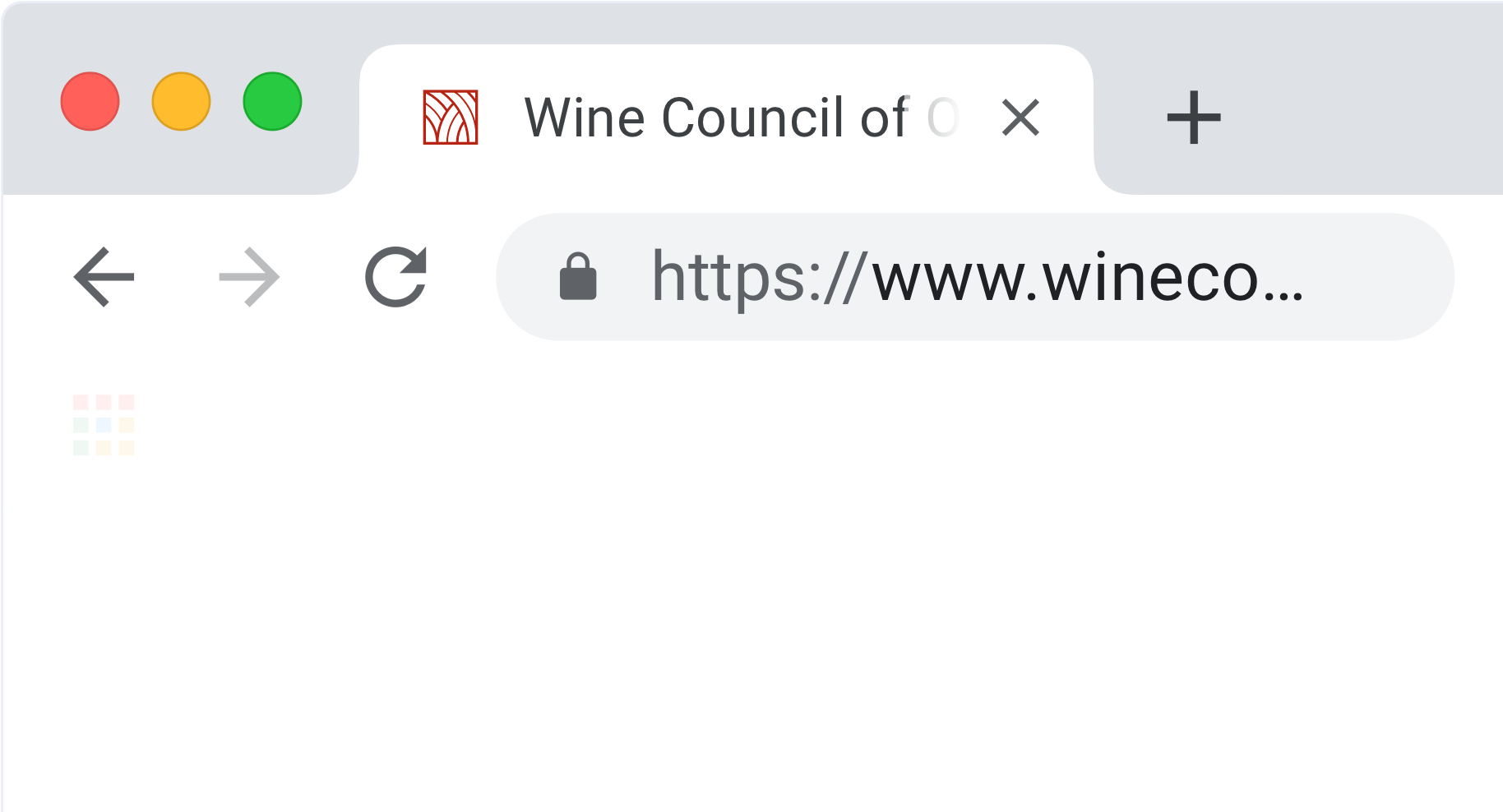 Wine Council of Ontario Favicon in Chrome Browser Tab
