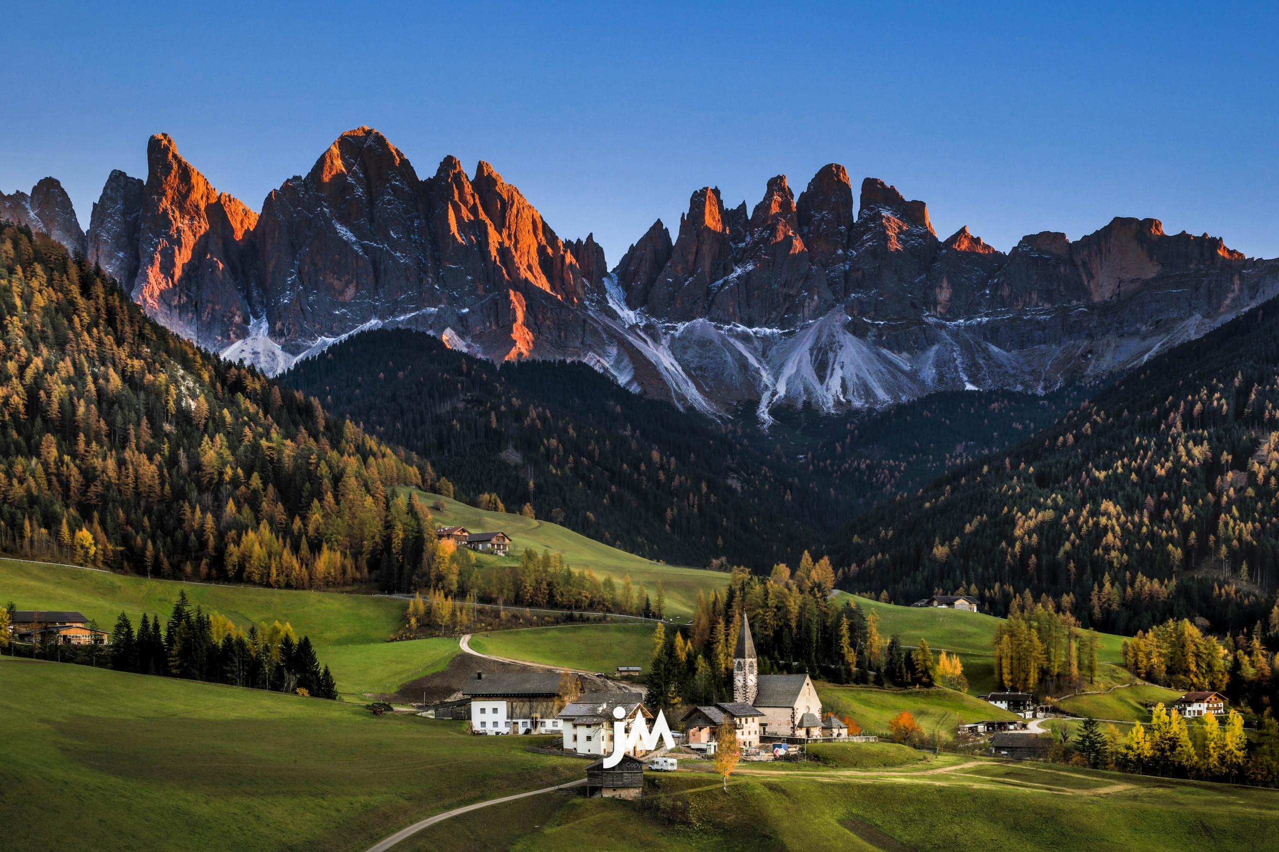 Italy, Dolomites Autumn Landscape