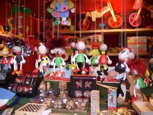 Creepy German wooden toys.