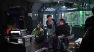 Stand-ins (or, more appropriately in this case, sit-ins) aboard the Daedalus.
