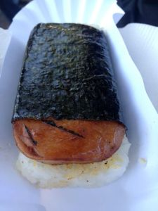Spam sushi!  About as good as you think.