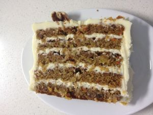 Including my favorite: the carrot cake!