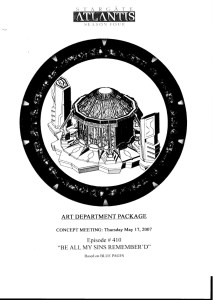 October 4, 2013: The Be All My Sins Remember'd Art Department Package!