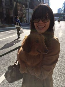 """""""Pick him up,""""suggested the elderly owner.  Akemi did and I feared the instantly cranky dog would chew her ear off."""