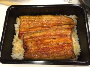 "Grilled eel ""kabayaki""."