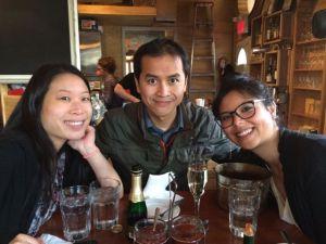 Fellow foodies: Nicole, Lan, and Missy.