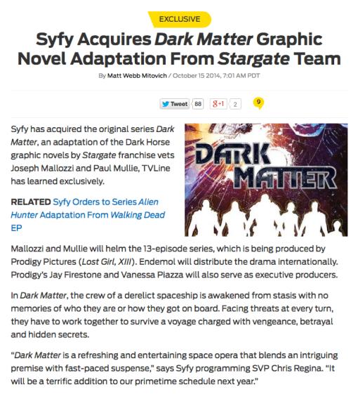 October 15, 2014: Dark Matter!