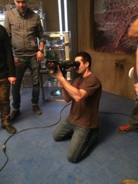 March 18, 2015: We've Passed The Halfway Mark Of Production On Dark Matter's First Season!  Introducing A Camera Operator Dino Laurenza!