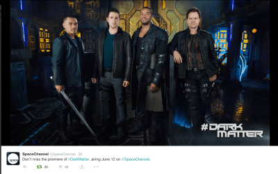 May 12, 2015: Who's Ready For Some Ship-based Sf?!  A Dark Matter Sneak Peek!  News!  Behind The Scene Pics!