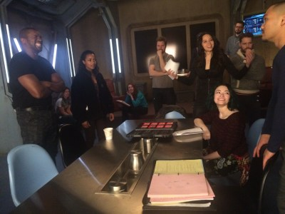"August 14, 2016: Bts Pics Of Tonight's Episode Of Dark Matter – ""she's One Of Them Now""!  Bts Pics!"