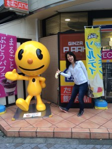 Rule #1 of traveling with Akemi: Stop to take a picture with every street corner mascot.