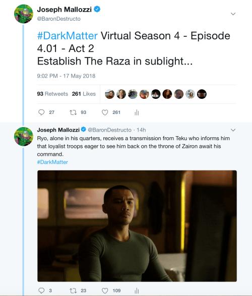 May 18, 2018: Dark Matter Virtual Season 4 – Episode 4.01, Act 2