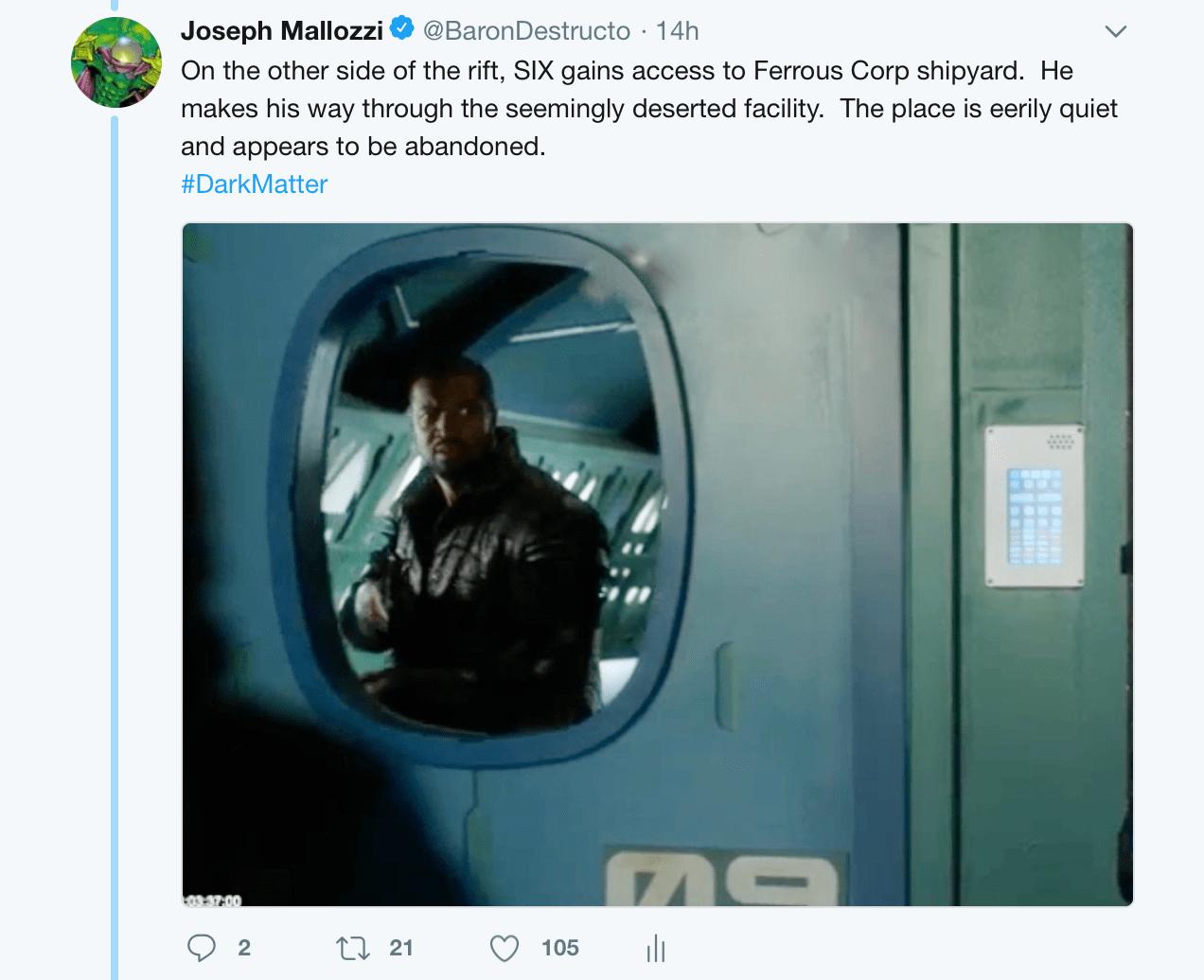 May 18, 2018: Dark Matter Virtual Season 4 - Episode 4 01