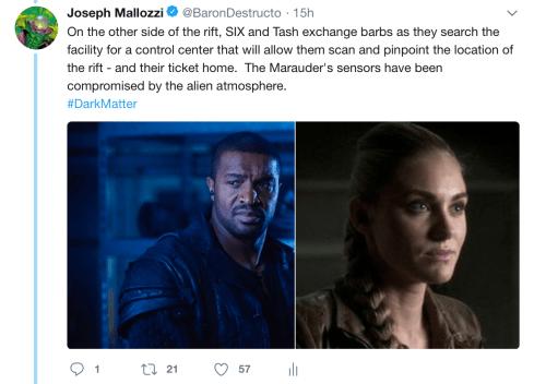May 19, 2018: Dark Matter Virtual Season 4 – Episode 4.01, Act 3!