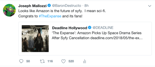 May 26, 2018: Congratulations To The Expanse!  And What Does This Mean For Dark Matter Fans?