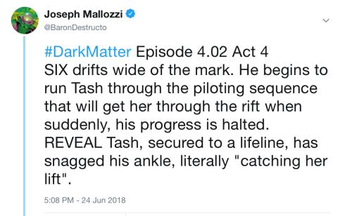 Dark Matter Virtual Season 4 – Episode 4.02, Act Iv!