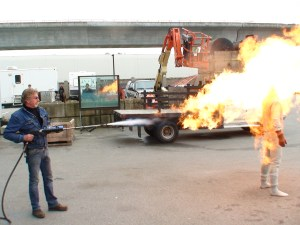 Most productions simply fire troublesome extras.  At Stargate, we prefer to burn them.