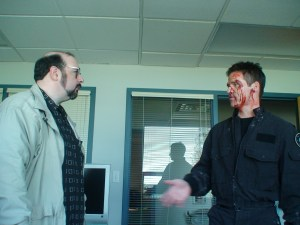 Steve Eramo gives Ben Browder a good old-fashioned ass-kicking.