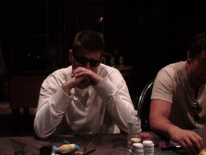 All business at poker night.