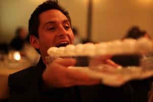 Alan loves his sorbet! (photo courtesy of Lawren Bancroft-Wilson)