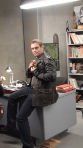 Michael Shanks shows off the set dec.