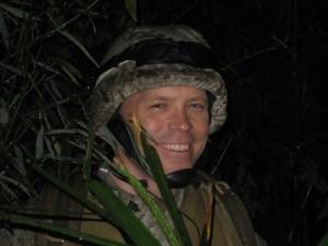 Josh Blacker (Sgt. Spencer) tries to blend in.