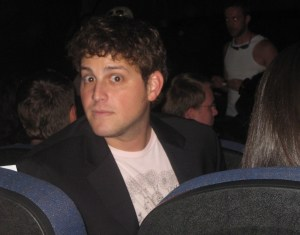 Actor David Blue (SGU's Eli Wallace) scopes the crowd prior to the screening.