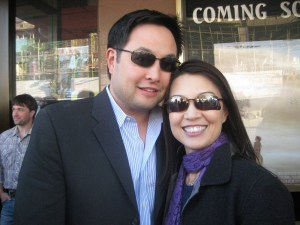 The beautiful Ming-Na (SGU's Camile Wray) with hubby.