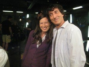 Jennifer Spence (SGU's Lisa Park) and Peter Kelamis (SGU's Adam Brody).