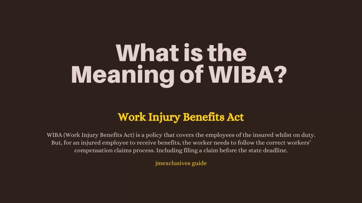 WIBA (Work Injury Benefits Act)