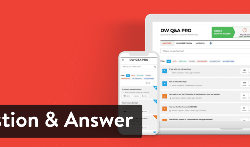 DW Question & Answer Pro Plugin