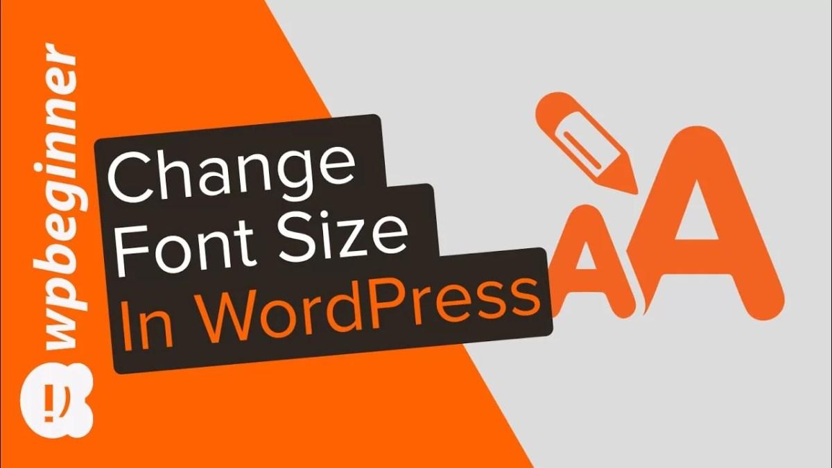 Change Font Size Settings