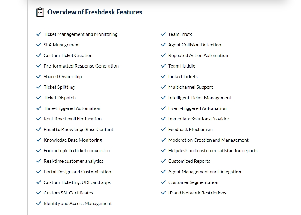 Overview of Freshdesk Features
