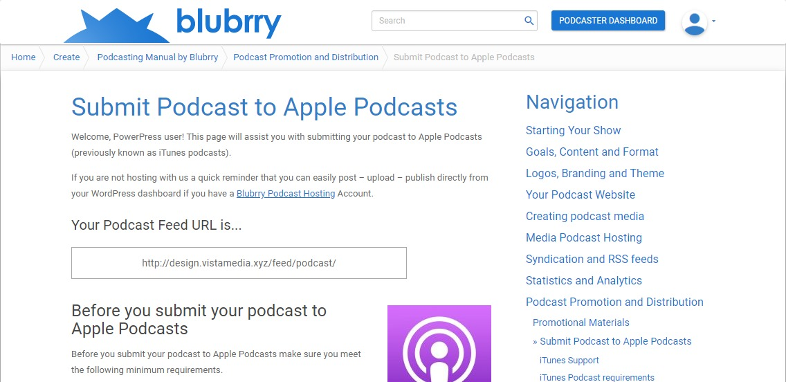 Submit your Podcast to Apple Podcasts