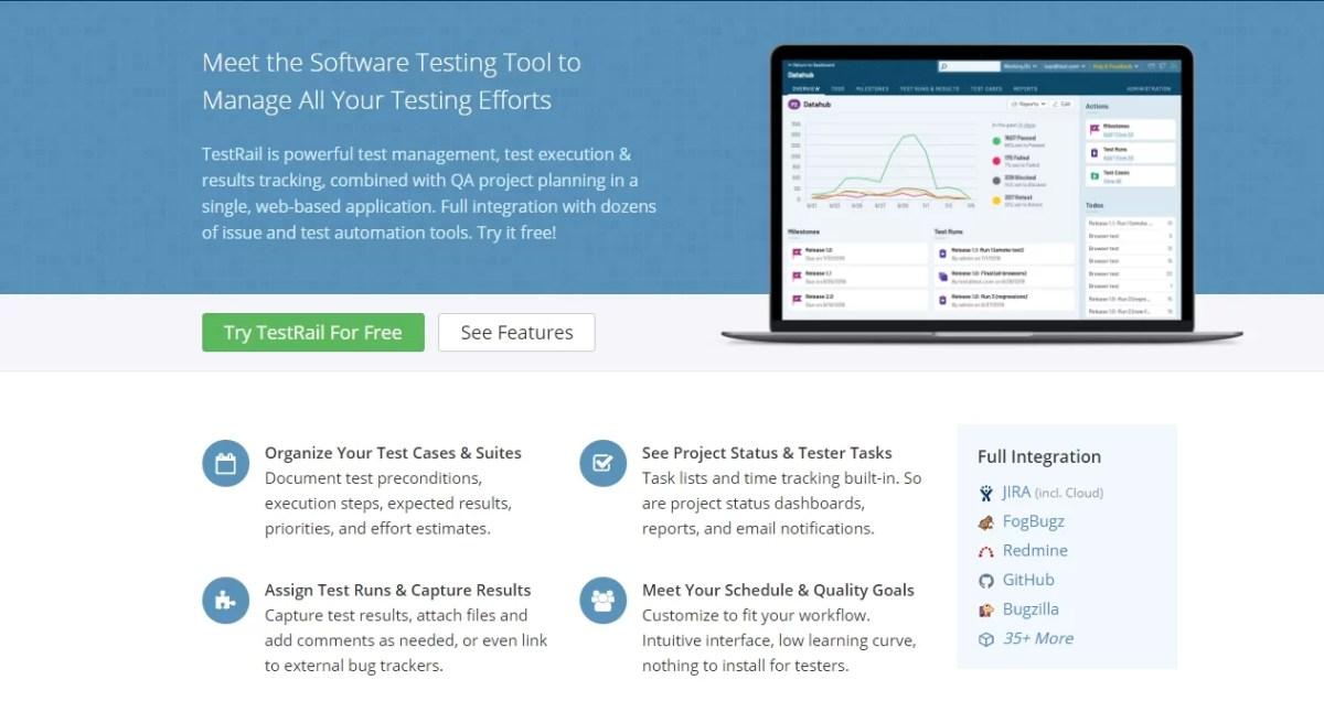 TestRail Software Testing Tool