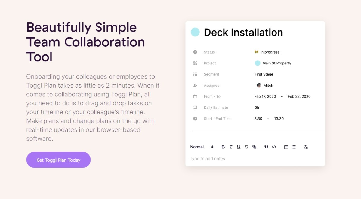 Beautifully Simple Team Collaboration Tool