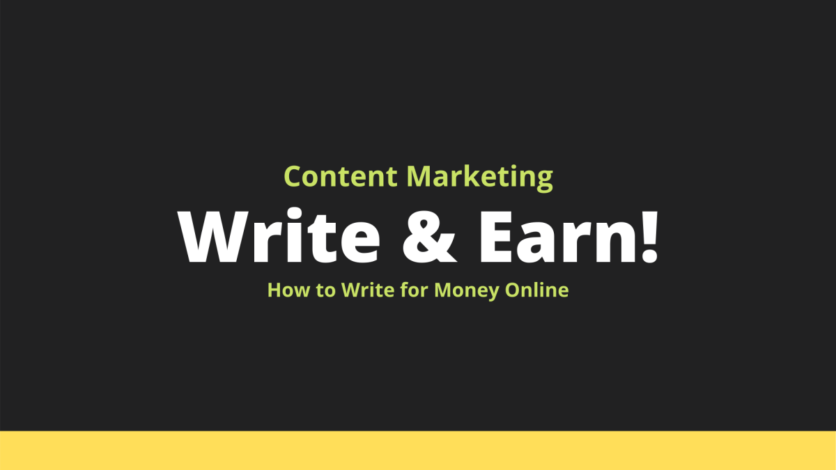 How to Write for Money Online