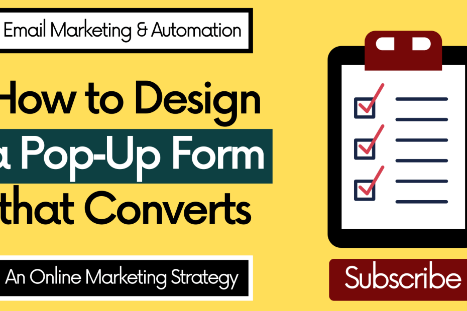 How to Design a Pop‑Up Form