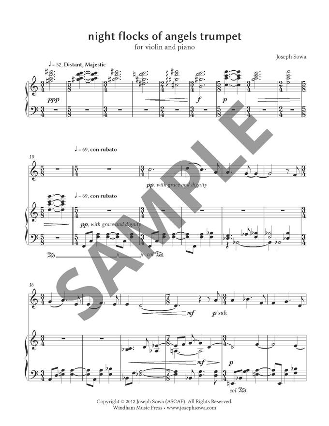 night flocks of angels trumpet p. 1