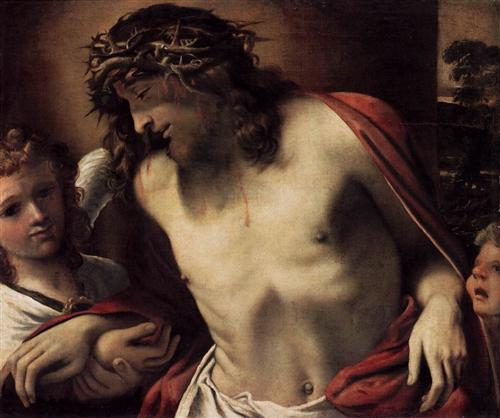 """Christ Wearing The Crown Of Thorns, Supported By Angels"" (1585-1587) — Annibale Carracci"