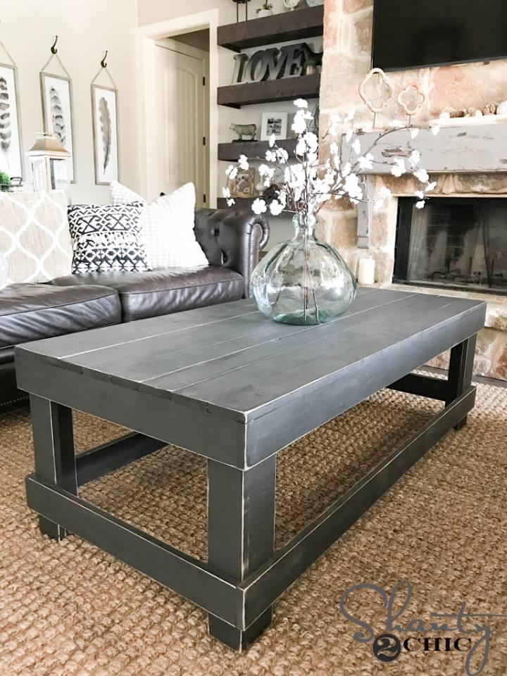 willis rustic coffee table
