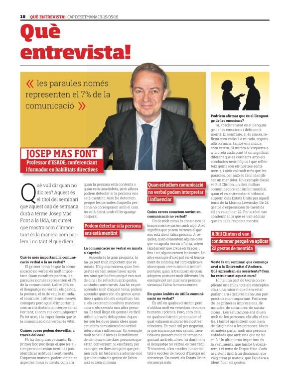 Entrevista Josep Mas Font