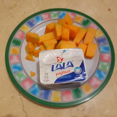 Melon con yoghurt
