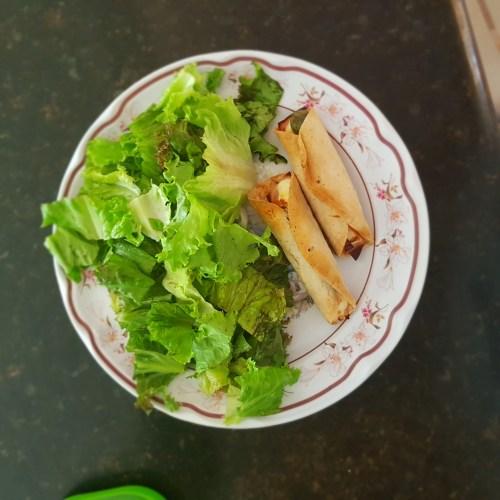 Quesadillas de jamon con lechuga