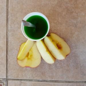 Manzana y gelatina