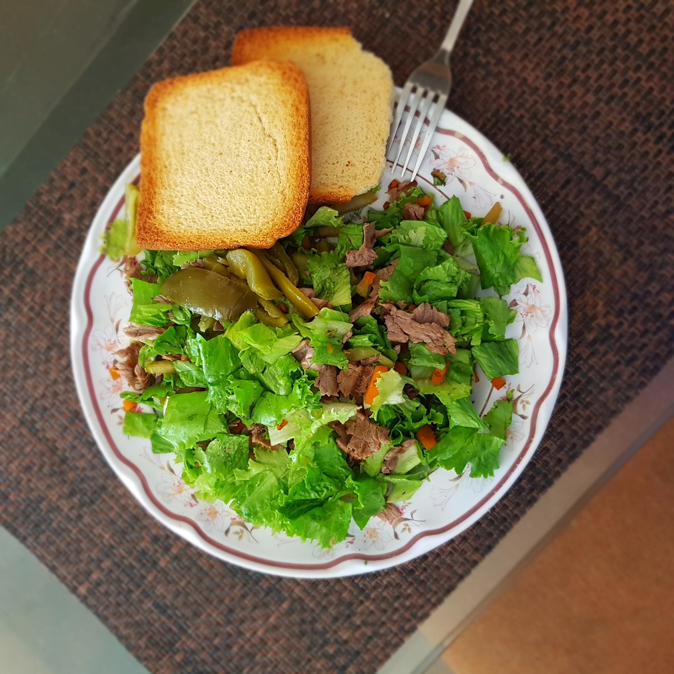Ensalada con bistec