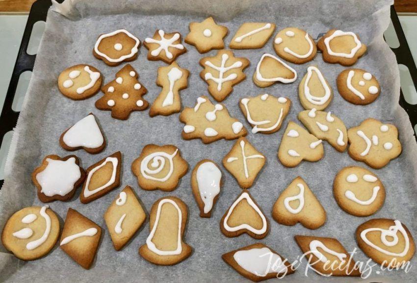 galletas de mantequilla con glasa