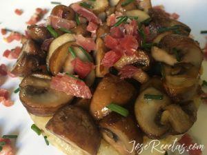timbal de portobello con patata